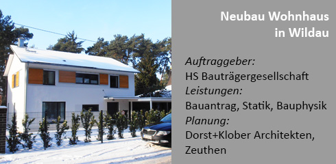 Neubau Architektenhaus in Wildau